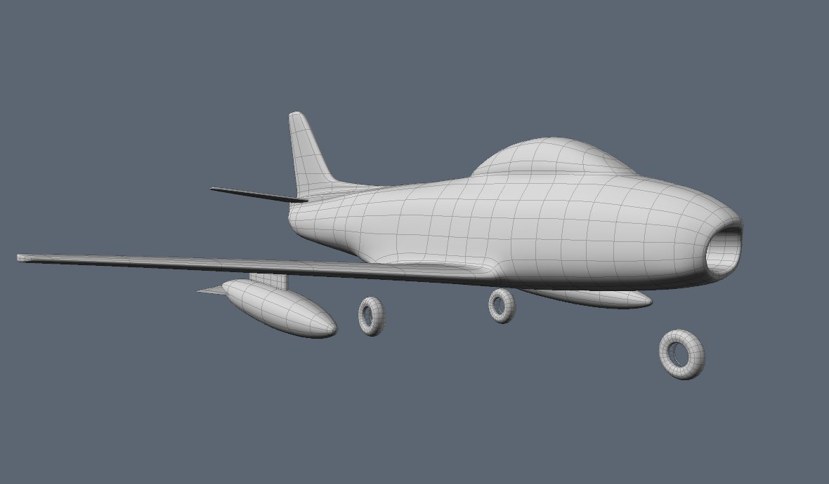 ... to make the canopy frame I think I need to step away from the pc for a while. I am terrified at the prospect of having to create UV maps for this. & F86f Sabre